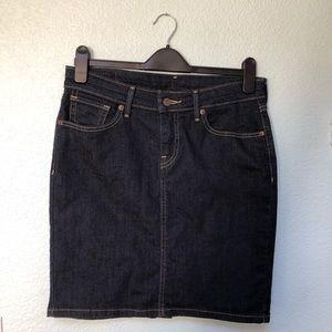 Levi's Dark Wash 5 Pocket Denim Pencil Skirt